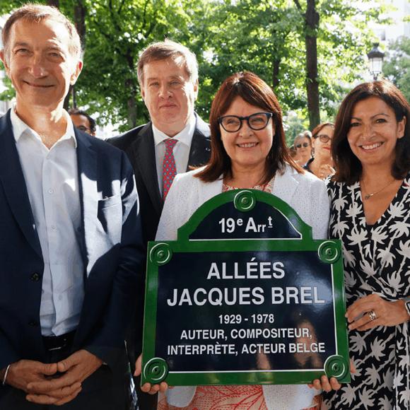 Dénomination «Allées Jacques Brel» à Paris