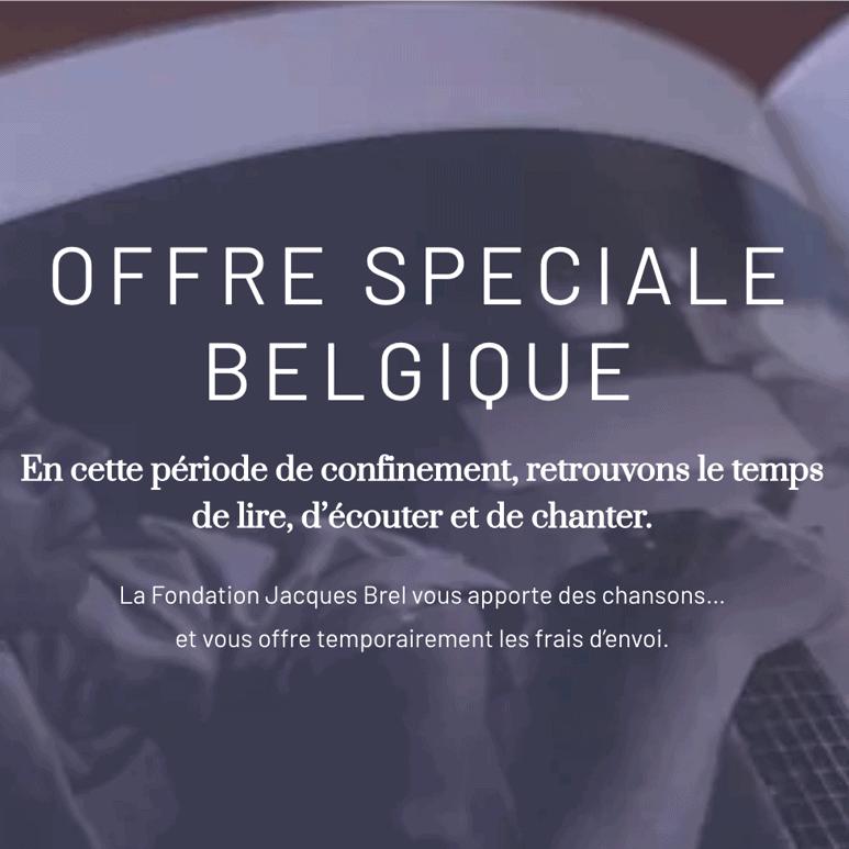 Offre spéciale Belgique