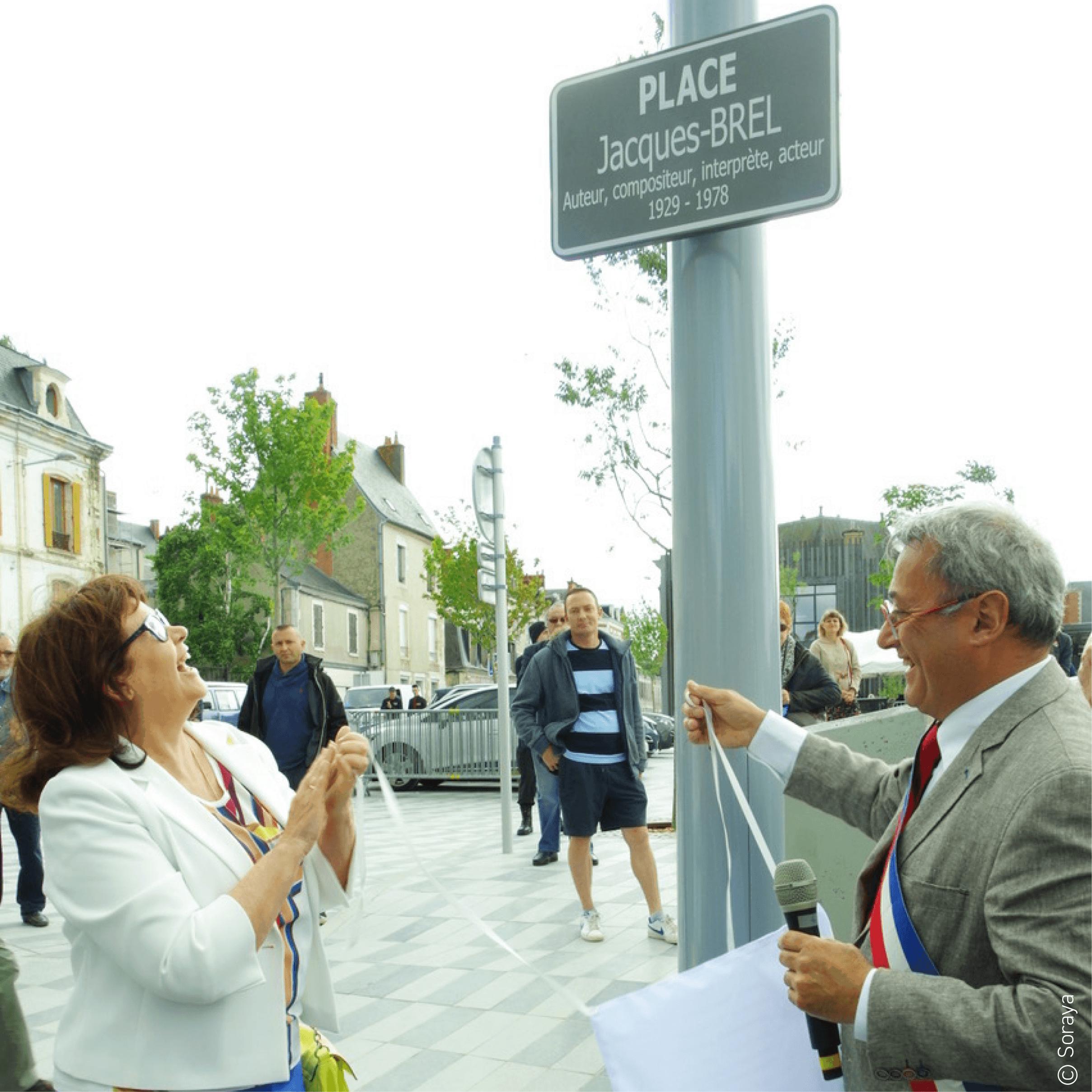 Inauguration de la Place Jacques Brel à Vierzon