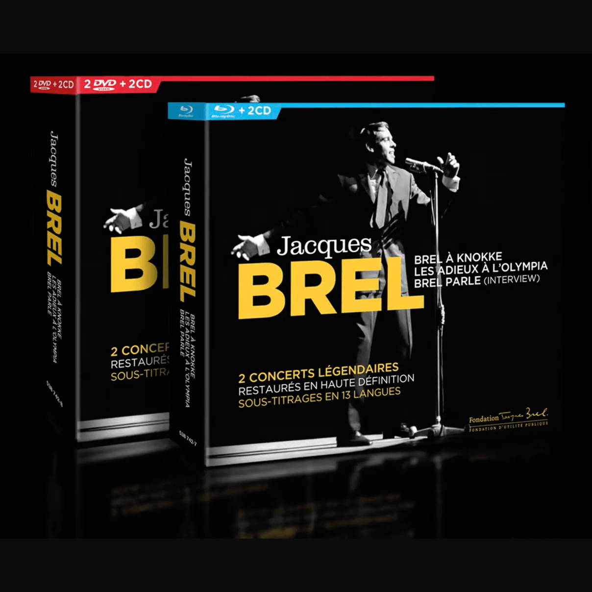 Jacques Brel en concert et en interview