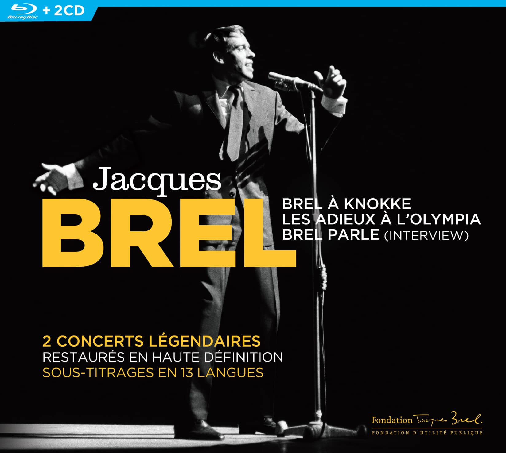 Brel en concerts et en interview Blu-Ray